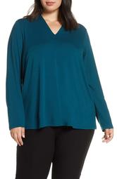 V-Neck Stretch Tencel<sup>®</sup> Lyocell Top
