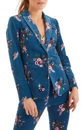Sackville West Floral Velvet Blazer
