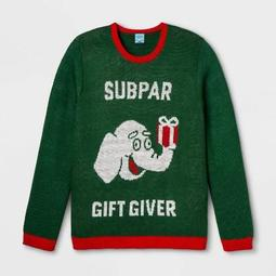 Subpar Gift Giver Plus Size Ugly Holiday Sweater - Green