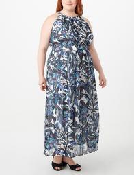 JONES STUDIO® Plus Size Floral Pleated Maxi Dress