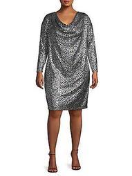 Plus Metallic Shift Dress