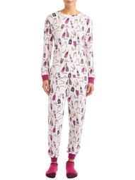 Secret Treasures Women's and Women's Plus 3-Piece Giftable Sleepwear Set with Fuzzy Socks