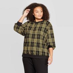 Women's Plus Size Boat Neck Sweatshirt - Who What Wear™