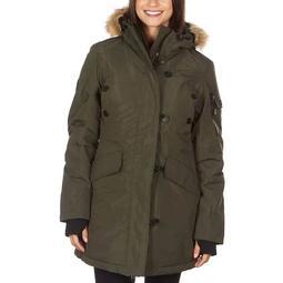 Plus Size Avalanche Faux-Fur Hood Sherpa Parka Jacket