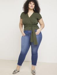 Skinny Crop Frayed Hem Jean