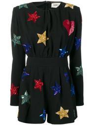 embroidered stars jumpsuit