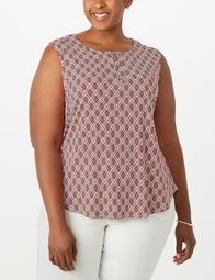 JONES STUDIO® Plus Size Printed Top