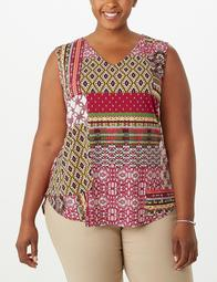 JONES STUDIO® Plus Size Patchwork High-Low Tunic
