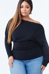 Plus Size Off-the-Shoulder Tunic