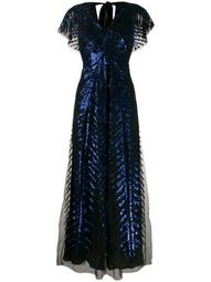 Dusk sequinned tulle gown