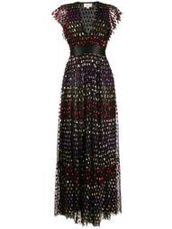 rainbow sequin column dress