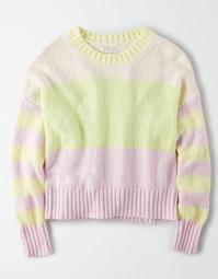 AE Color Block Crew Neck Sweater