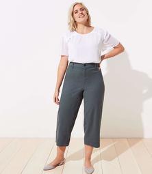 LOFT Plus Slim Wide Leg Ankle Pants