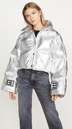 3D Cropped Puffer Jacket